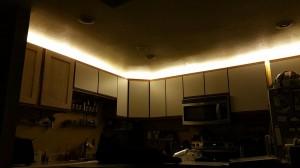 LED up-lighting installed